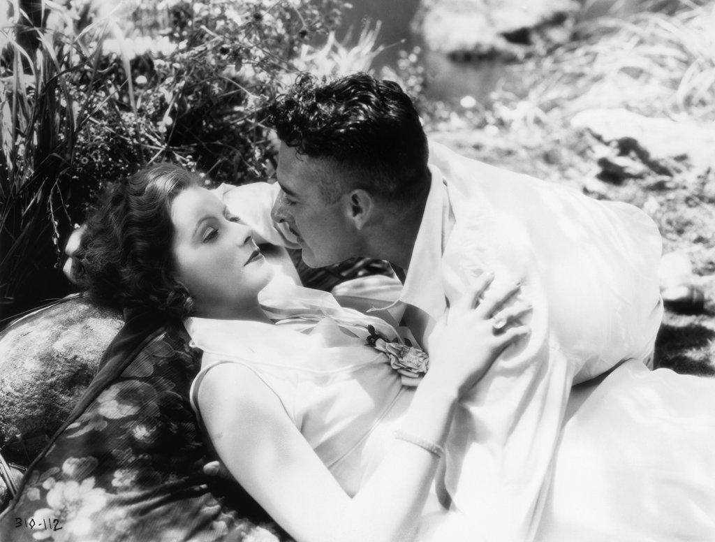 Greta Garbo, John Gilbert / Love 1927 directed by Edmund Goulding : Stock Photo