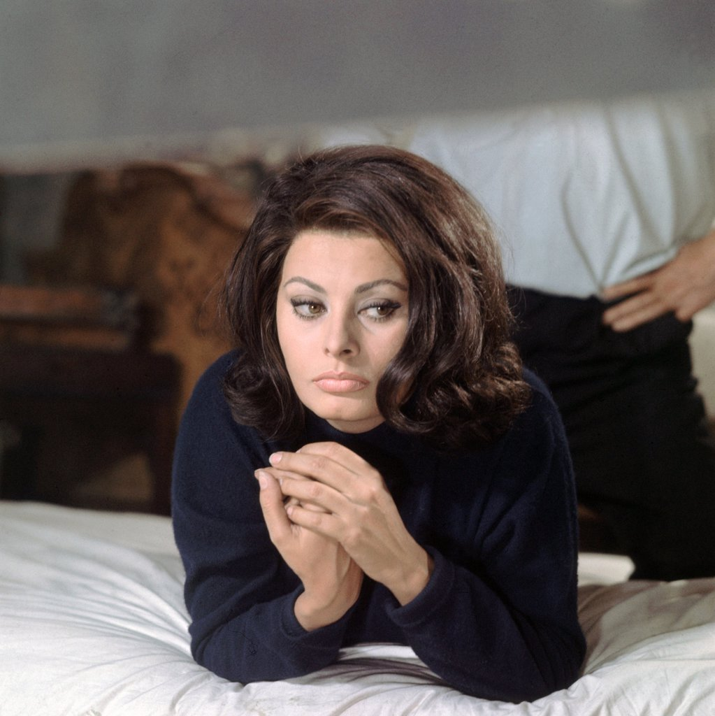 Sophia Loren / Operation Crossbow 1965 directed by Michael Anderson : Stock Photo