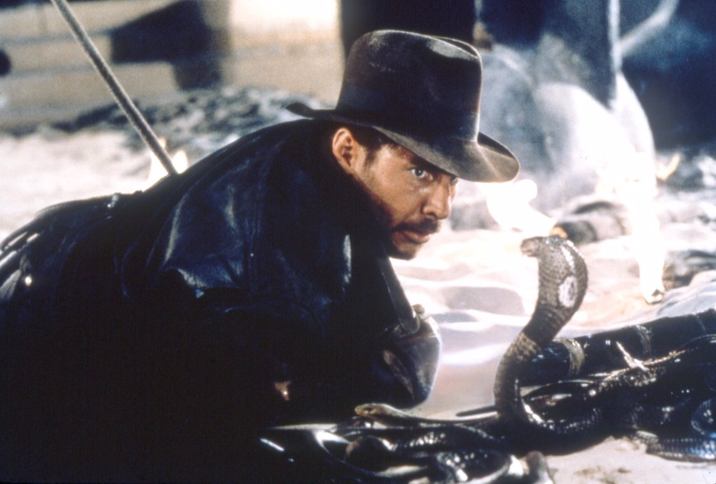 Harrison Ford / Raiders Of The Lost Ark 1981 directed by Steven Spielberg : Stock Photo