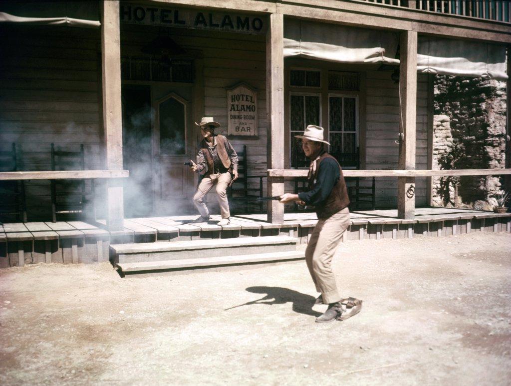 Stock Photo: 1606-152347 Ricky Nelson, John Wayne / Rio Bravo 1959 directed by Howard Hawks
