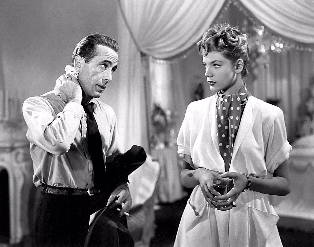 Humphrey Bogart, Lauren Bacall / The Big Sleep 1946 directed by Howard Hawks : Stock Photo