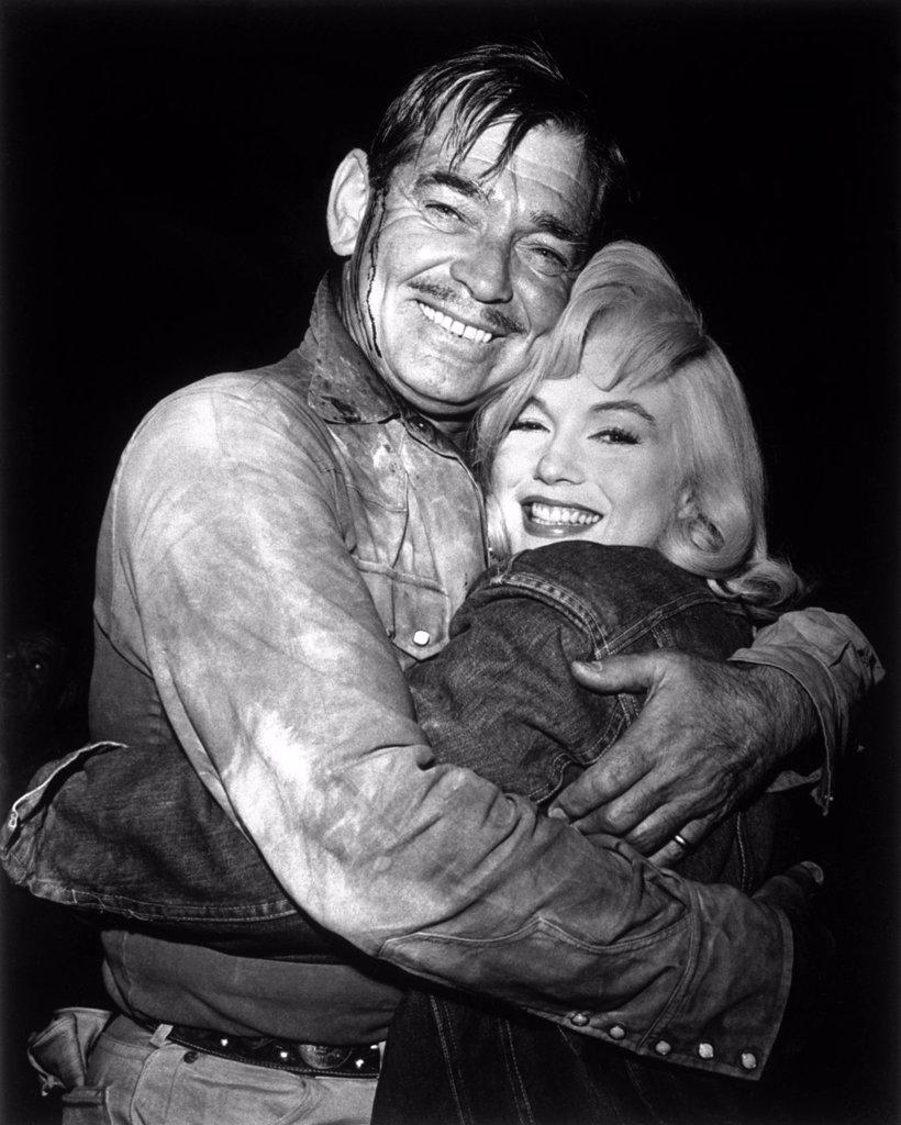 Clark Gable, Marilyn Monroe / The Misfits 1961 directed by John Huston : Stock Photo