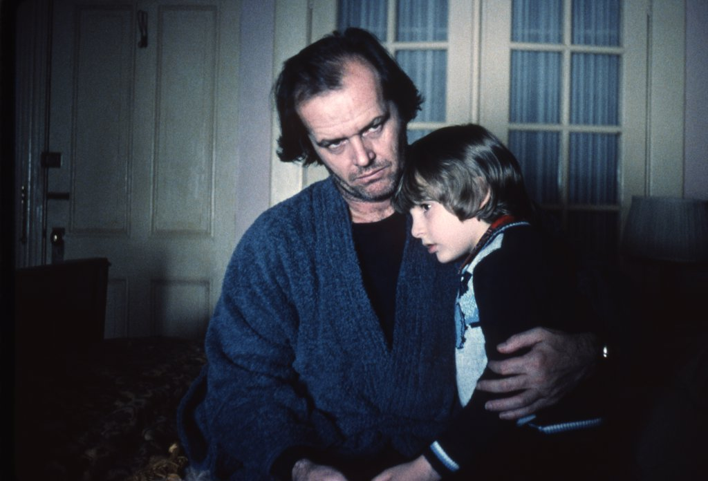 Stock Photo: 1606-153079 Jack Nicholson, Danny Llyod / Shining 1980 directed by Stanley Kubrick