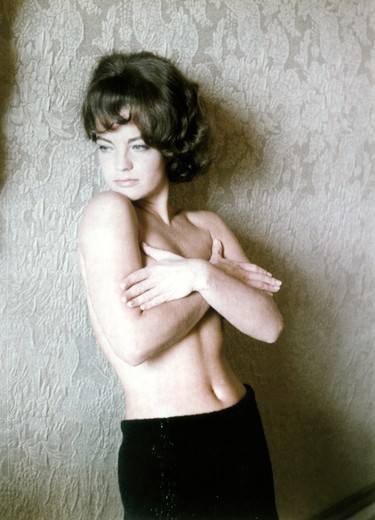 Romy Schneider in 60's : Stock Photo