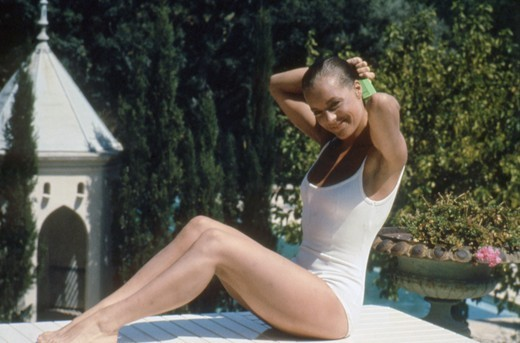 LA PISCINE 1968 DIRECTED BY JACQUES DERAY - Romy Schneider : Stock Photo