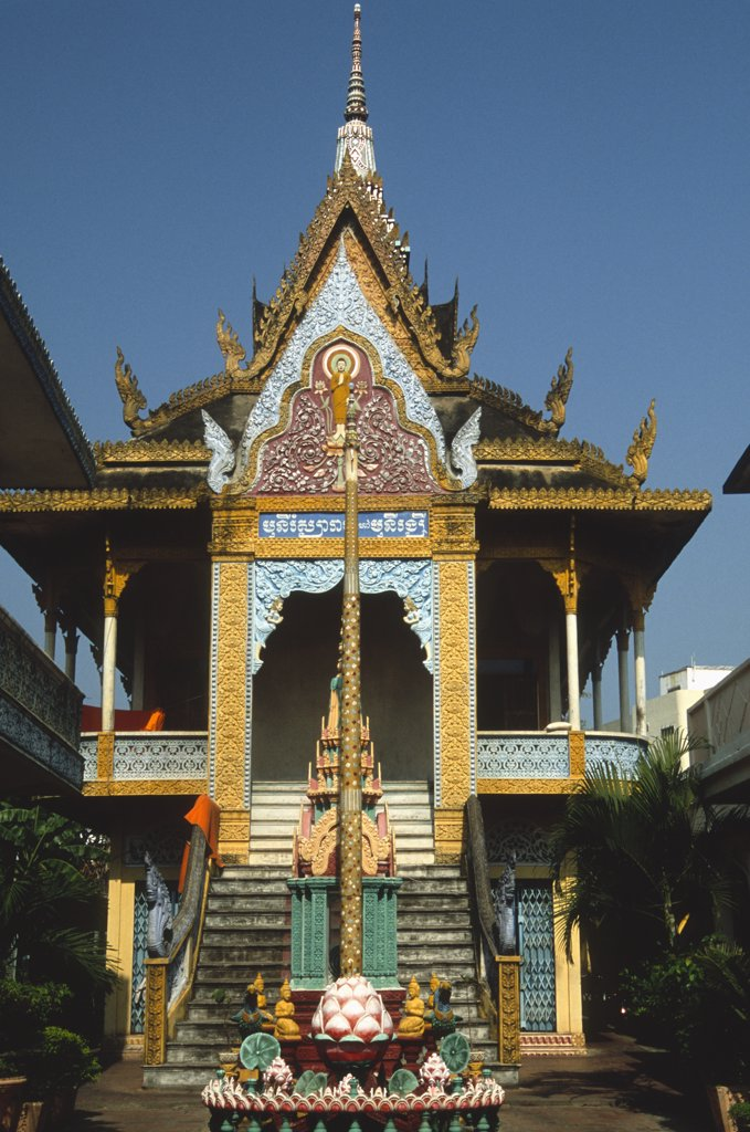 Stock Photo: 1606-155211 Vietnam, Mekong Delta, Cantho, Munirangsyaram Pagoda,