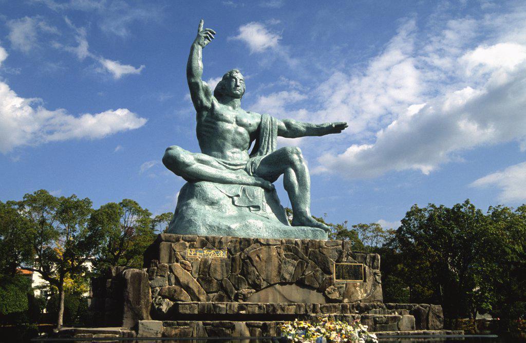 Stock Photo: 1606-155317 Japan, Kyushu, Nagasaki, Peace Park, Peace Statue,