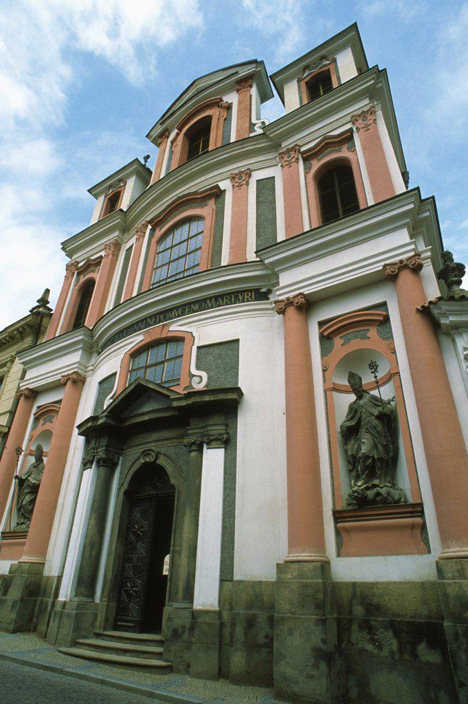 Czech Republic, Kutna Hora, St John of Nepomuk Church, : Stock Photo