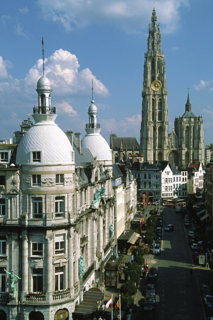 Belgium, Antwerpen, Cathedral, : Stock Photo