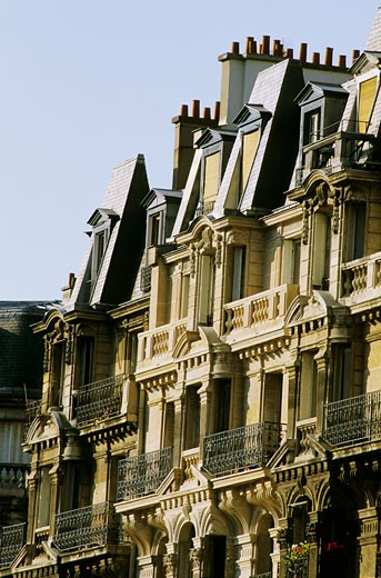 Stock Photo: 1606-15584 France, Paris, facades buildings