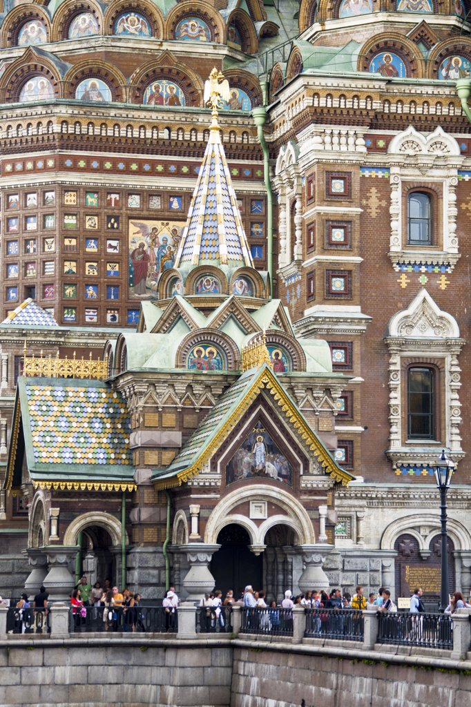 Stock Photo: 1606-156947 Rusia , San Petersburg City, Church of the Savior on Spilled Blood