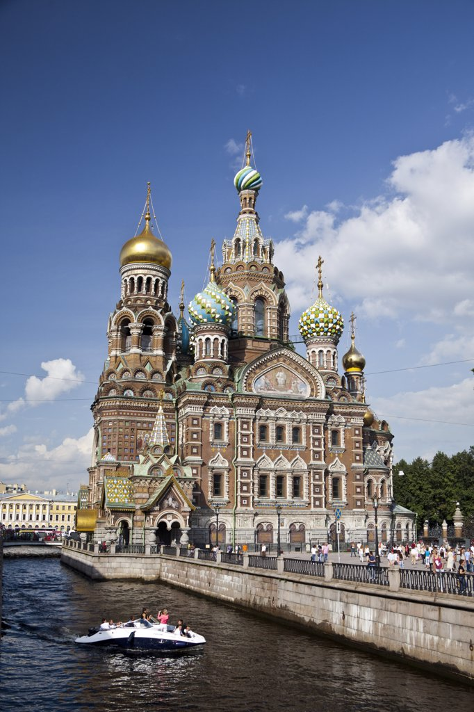 Rusia , San Petersburg City, Church of the Savior on Spilled Blood : Stock Photo