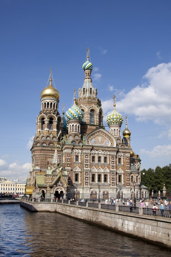 Stock Photo: 1606-156955 Rusia , San Petersburg City, Church of the Savior on Spilled Blood