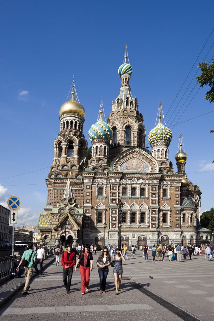 Stock Photo: 1606-156957 Rusia , San Petersburg City, Church of the Savior on Spilled Blood