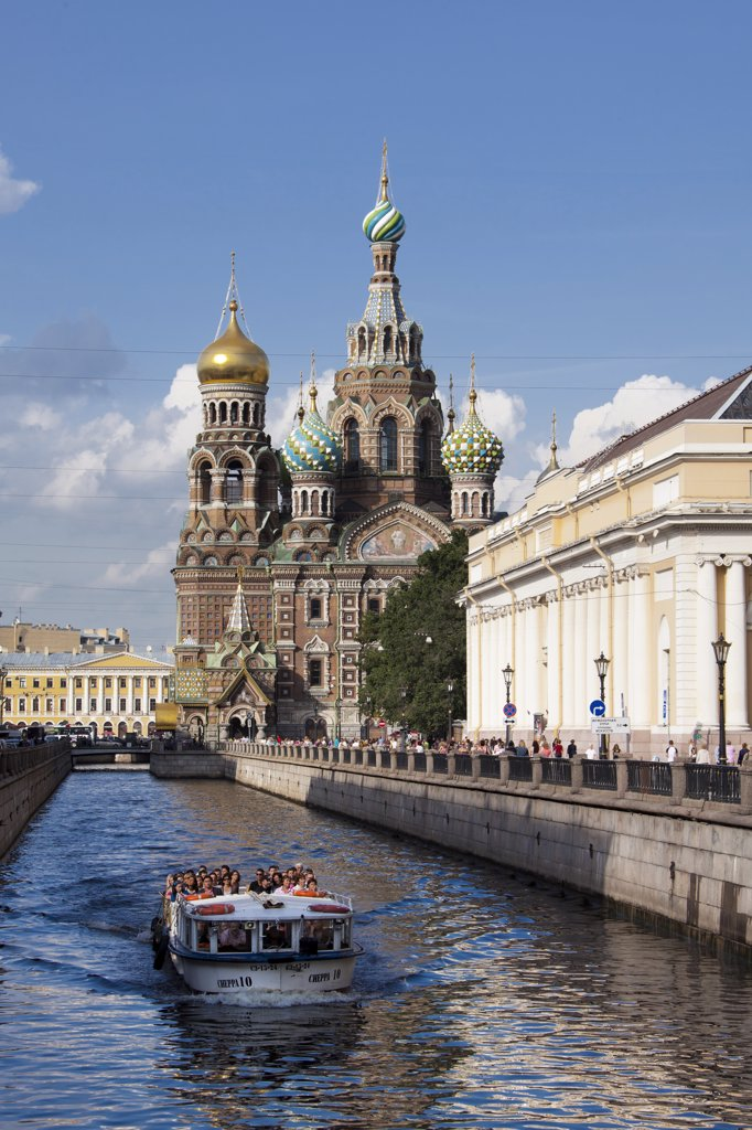 Stock Photo: 1606-156958 Rusia , San Petersburg City, Church of the Savior on Spilled Blood