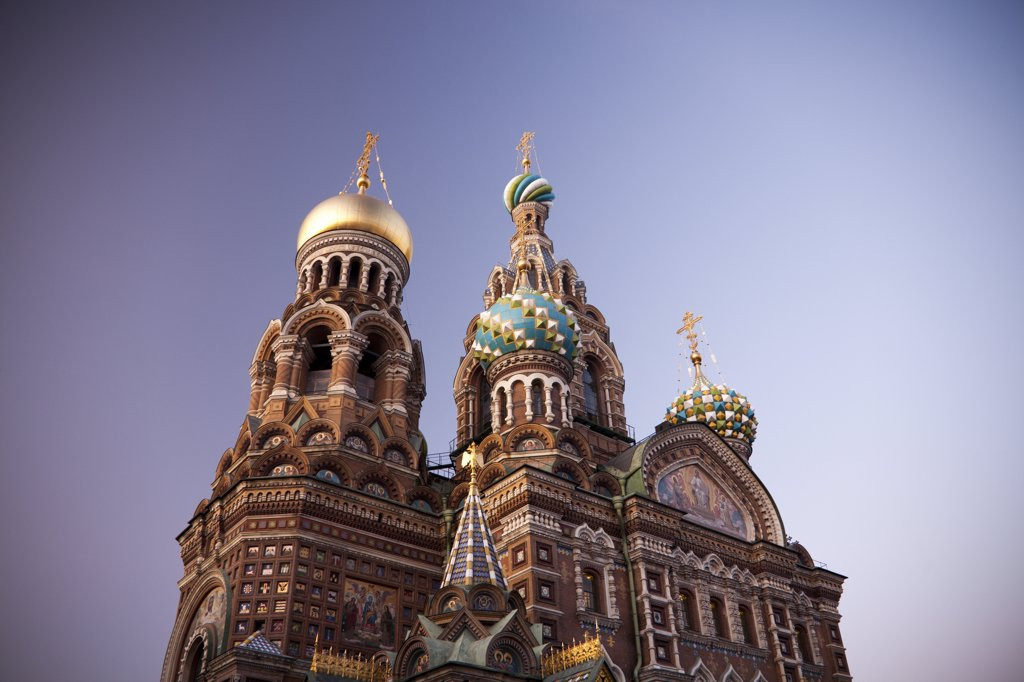 Rusia , San Petersburg City , Church of the Savior on Spilled Blood : Stock Photo