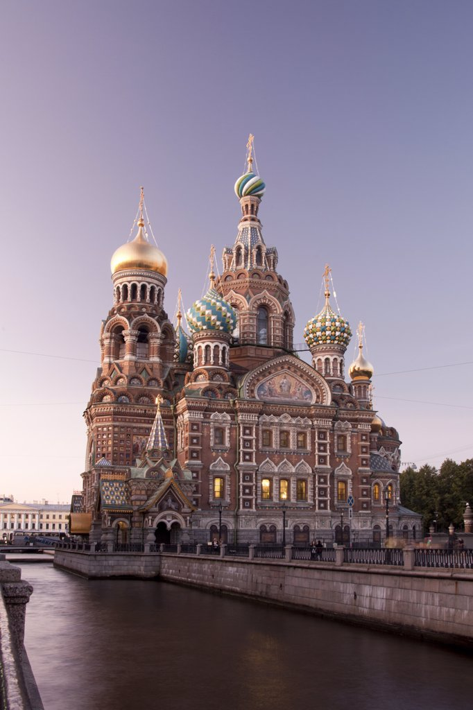 Stock Photo: 1606-157018 Rusia , San Petersburg City , Church of the Savior on Spilled Blood and Gribodeyova Canal