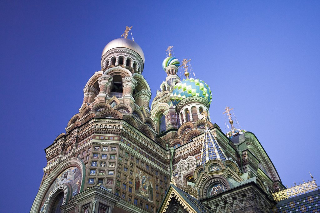 Stock Photo: 1606-157019 Rusia , San Petersburg City , Church of the Savior on Spilled Blood