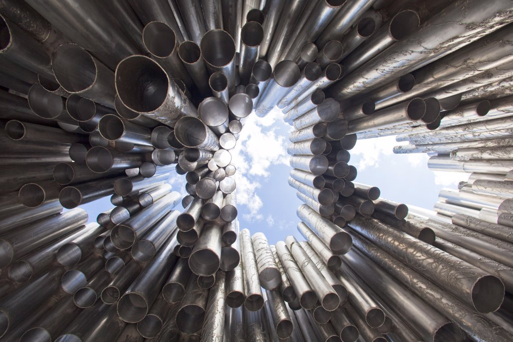 Stock Photo: 1606-157234 Finland , Helsinki City, Sibelius Monument