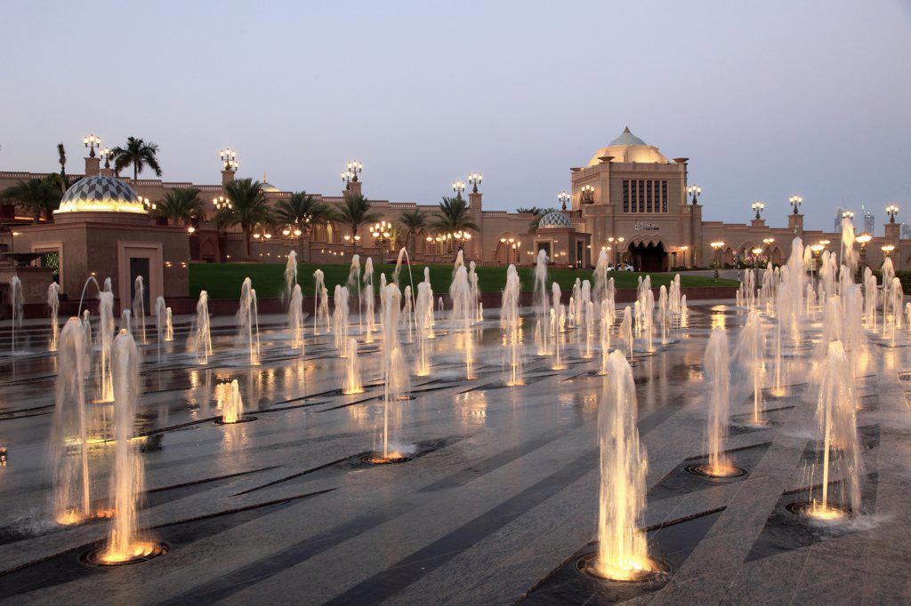 United Arab Emirates, Abu Dhabi, Emirates Palace Hotel, : Stock Photo
