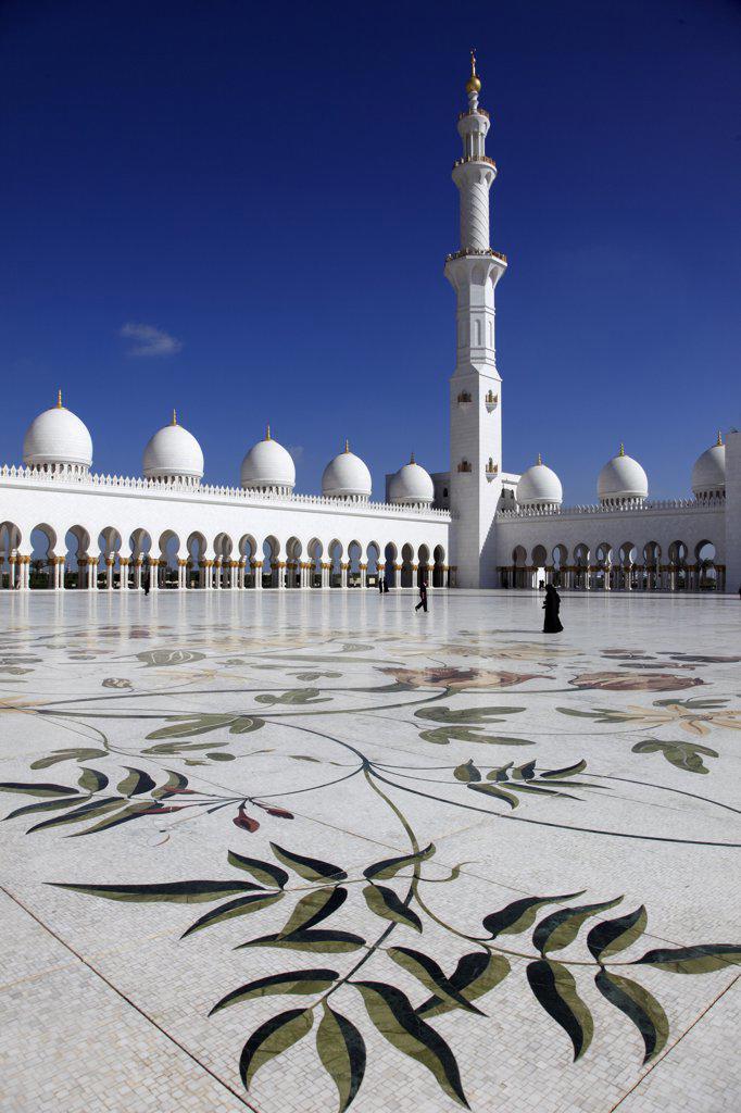Stock Photo: 1606-157789 United Arab Emirates, Abu Dhabi, Sheikh Zayed bin Sultan al-Nahyan Mosque,