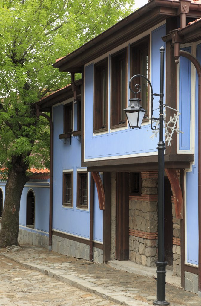 Stock Photo: 1606-158036 Bulgaria, Plovdiv, street scene, house,