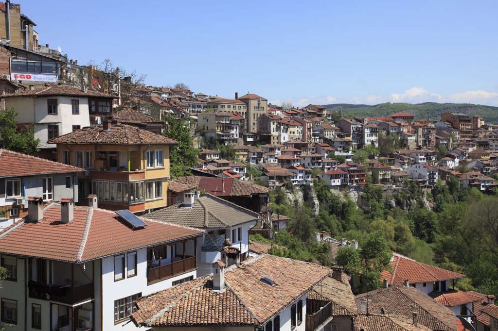 Stock Photo: 1606-158082 Bulgaria, Veliko Tarnovo, skyline, general view,