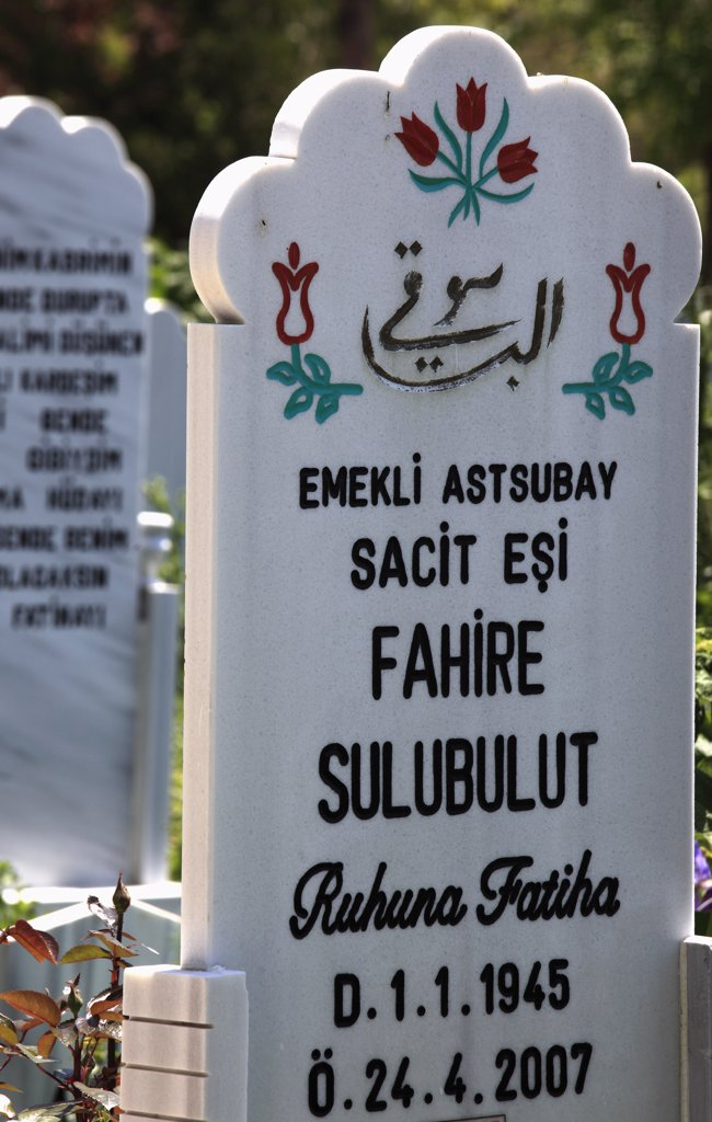 Stock Photo: 1606-158283 Turkey, Konya, muslim cemetery, tombstone,