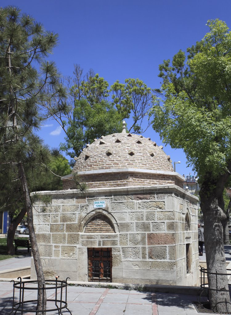 Turkey, Konya, tomb of Isak Pasha, : Stock Photo