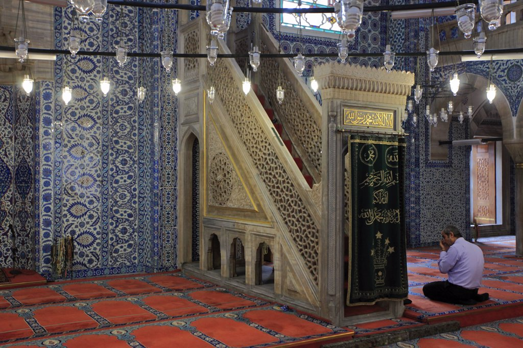 Turkey; Istanbul; Rustem Pasa Mosque, : Stock Photo