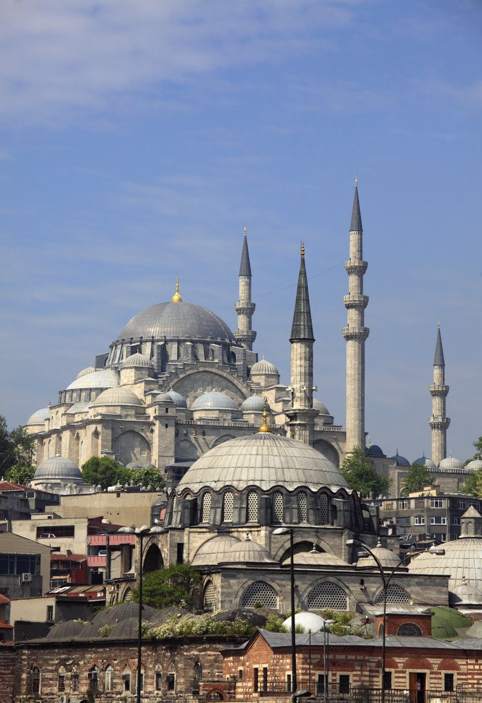 Turkey; Istanbul; Suleymaniye, Rustem Pasa Mosques; : Stock Photo