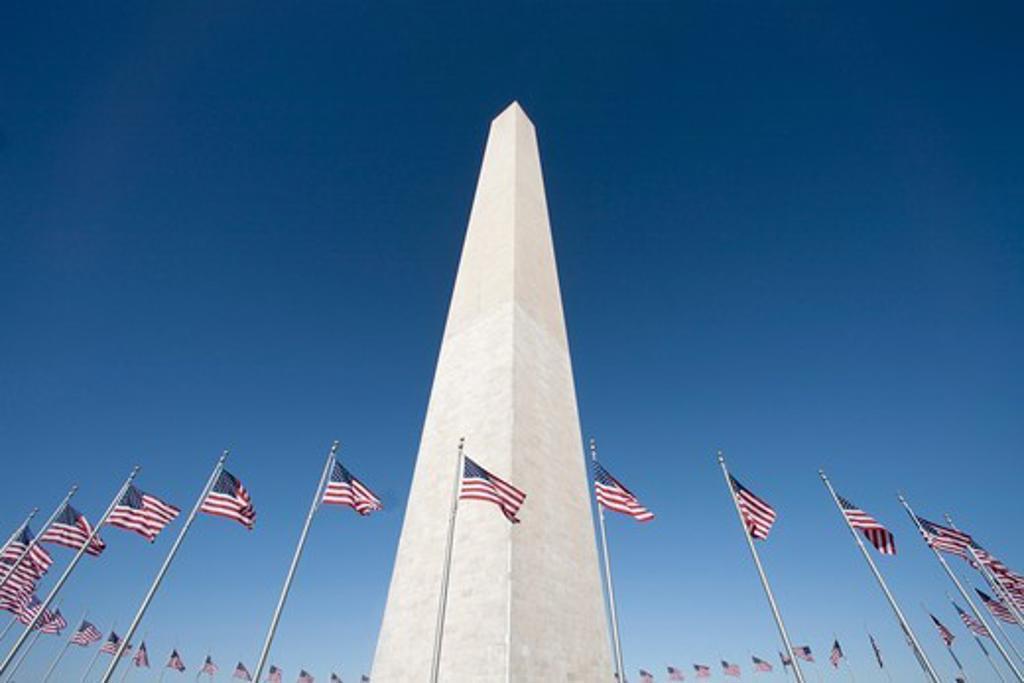 USA- March 2010-Washington City-Washington Monument : Stock Photo