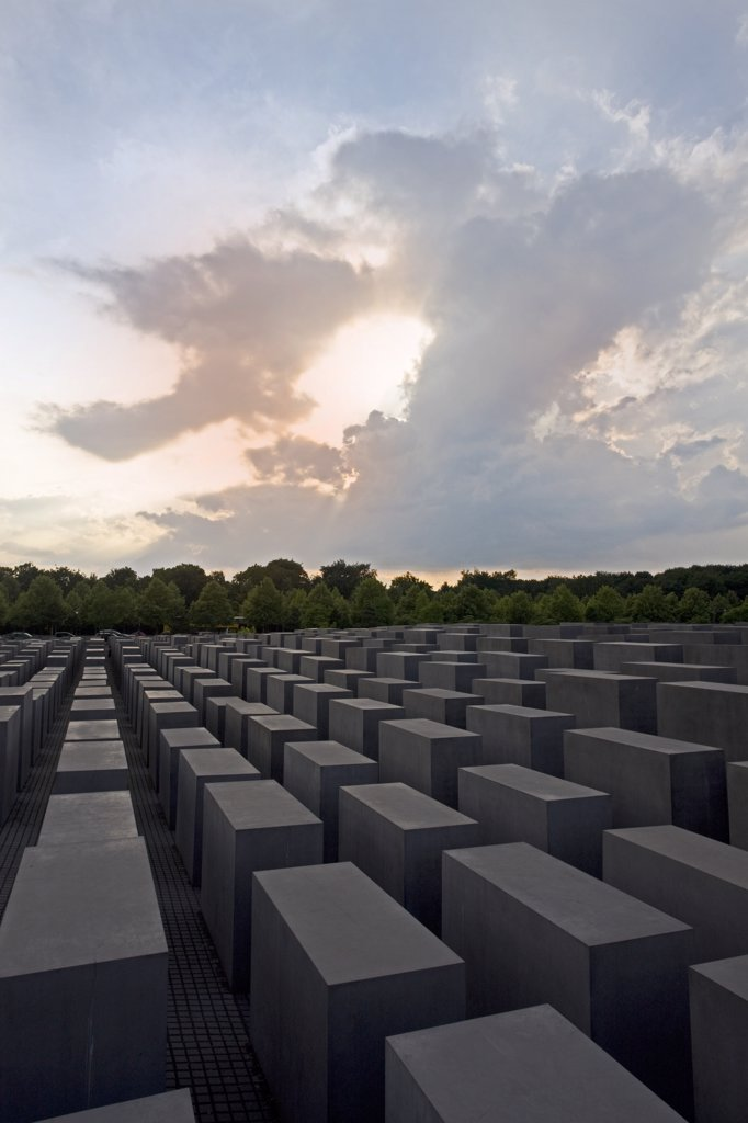 Stock Photo: 1606-159507 Germany , June 2009 Berlin City The Holocaust Memorial
