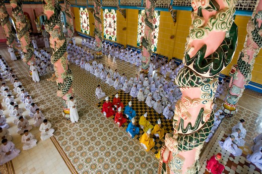 Stock Photo: 1606-159768 Vietnam-Nov. 2009 Near Saigon City Tay Ninh City Cao Dai Great temple