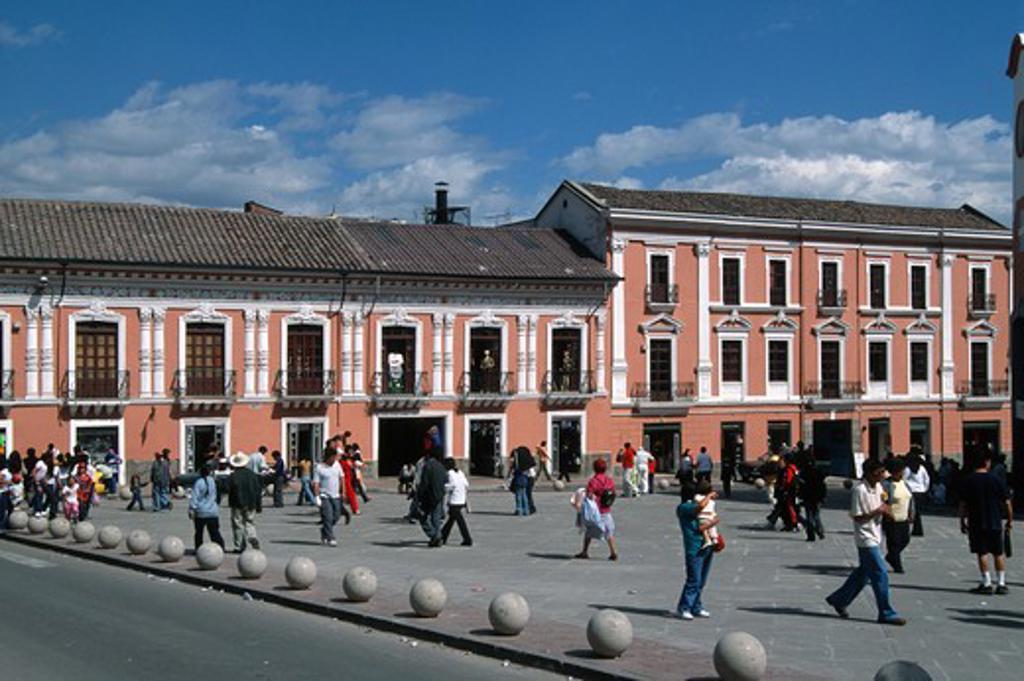 Ecuador, Quito, Plaza de la Merced, : Stock Photo