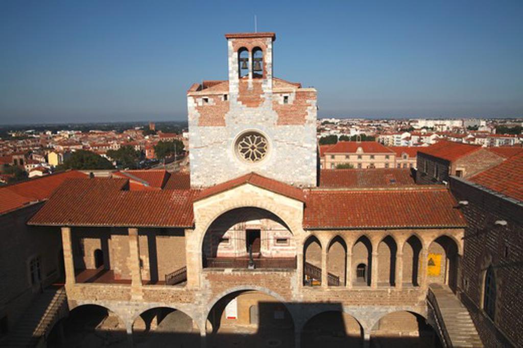 Stock Photo: 1606-160767 France, Languedoc Roussillon, Pyrénées Orientales (66), Perpignan, Rois de Majorque palace