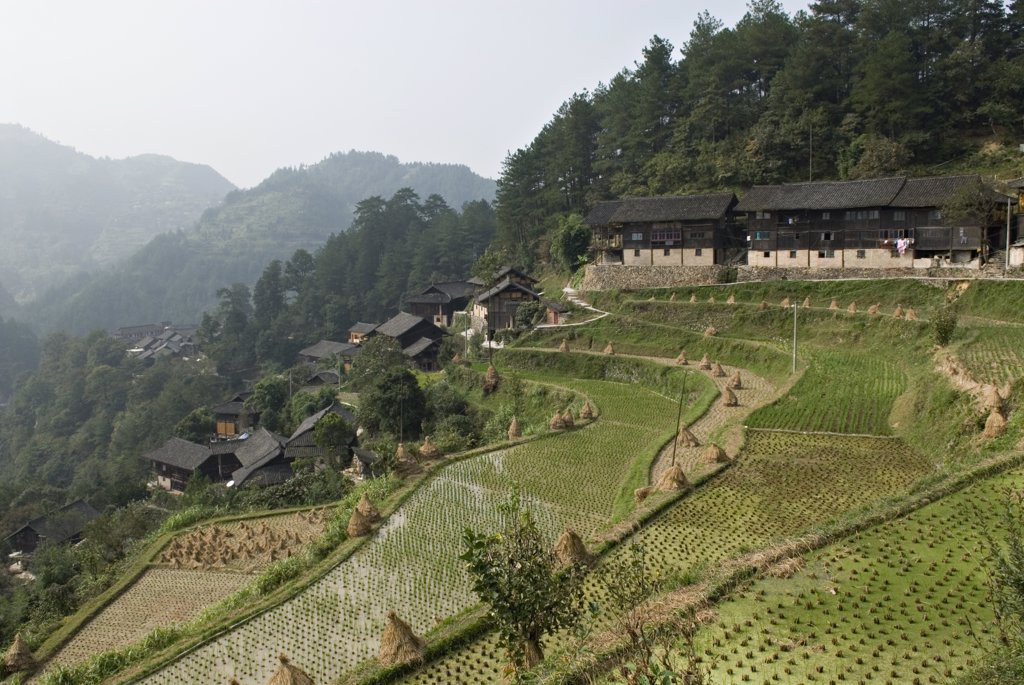 Stock Photo: 1606-161270 Miao village of Nanhua,Near Kaili,Guizhou,China