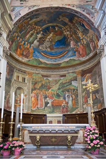 Stock Photo: 1606-161506 Fresco by Fra Filippo Lippi;;Duomo;Spoleto;Umbria;Italia