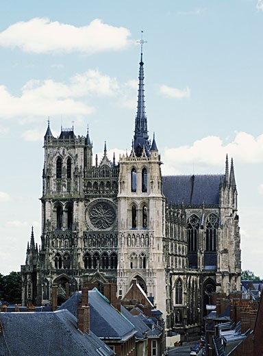 France, Picardie, Somme, Amiens, the cathedral : Stock Photo