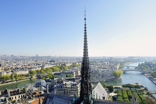 Stock Photo: 1606-162292 France, Ile-de-France, Capital, Paris, 4th, City center, Notre-Dame
