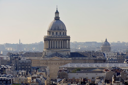 France, Ile-de-France, Capital, Paris, 5th, City center, plunging View(Sight), The Pantheon : Stock Photo