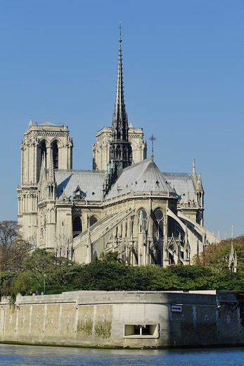 France, Ile-de-France, Capital, Paris, 4th, City center, Notre-Dame : Stock Photo