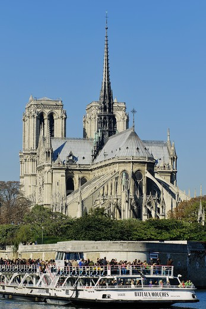 France, Ile-de-France, Capital, Paris, 4th, City center, Notre-Dame : Stock Photo