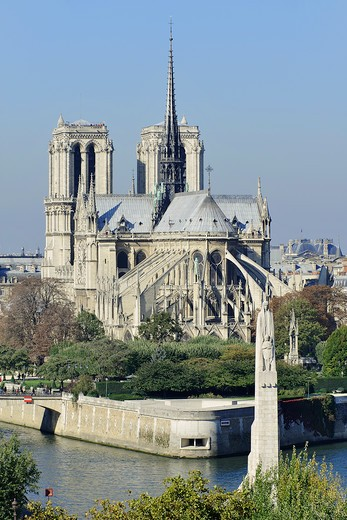 Stock Photo: 1606-162424 France, Ile-de-France, Capital, Paris, 4th, City center, Notre-Dame