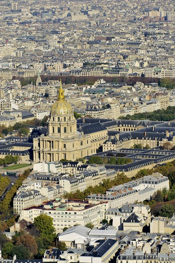 Stock Photo: 1606-162460 France, Ile-de-France, Capital, Paris, 7th, City center, plunging View(Sight), Invalides