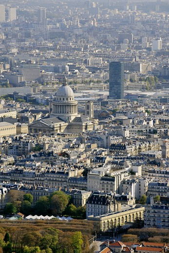 France, Ile-de-France, Capital, Paris, 5th, City center, plunging View(Sight) : Stock Photo