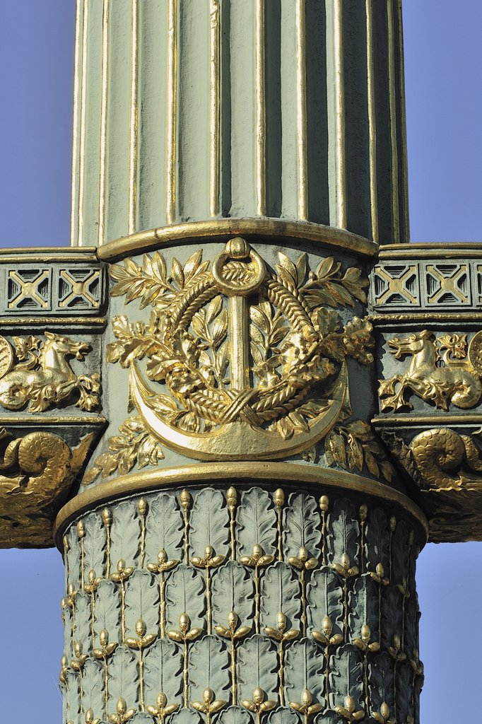 Stock Photo: 1606-163318 France, Ile-de-France, Paris, 8th, Bank of the Seine, Concorde Place, Lamppost