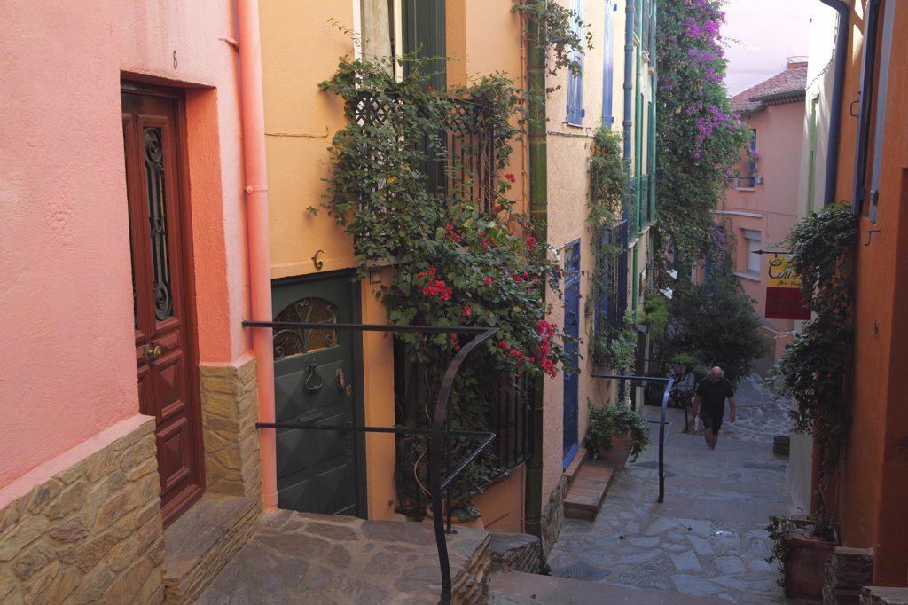 Stock Photo: 1606-163429 France, Languedoc Roussillon, Pyrénées Orientales (66), Collioure, Moure district (old fishermen district)