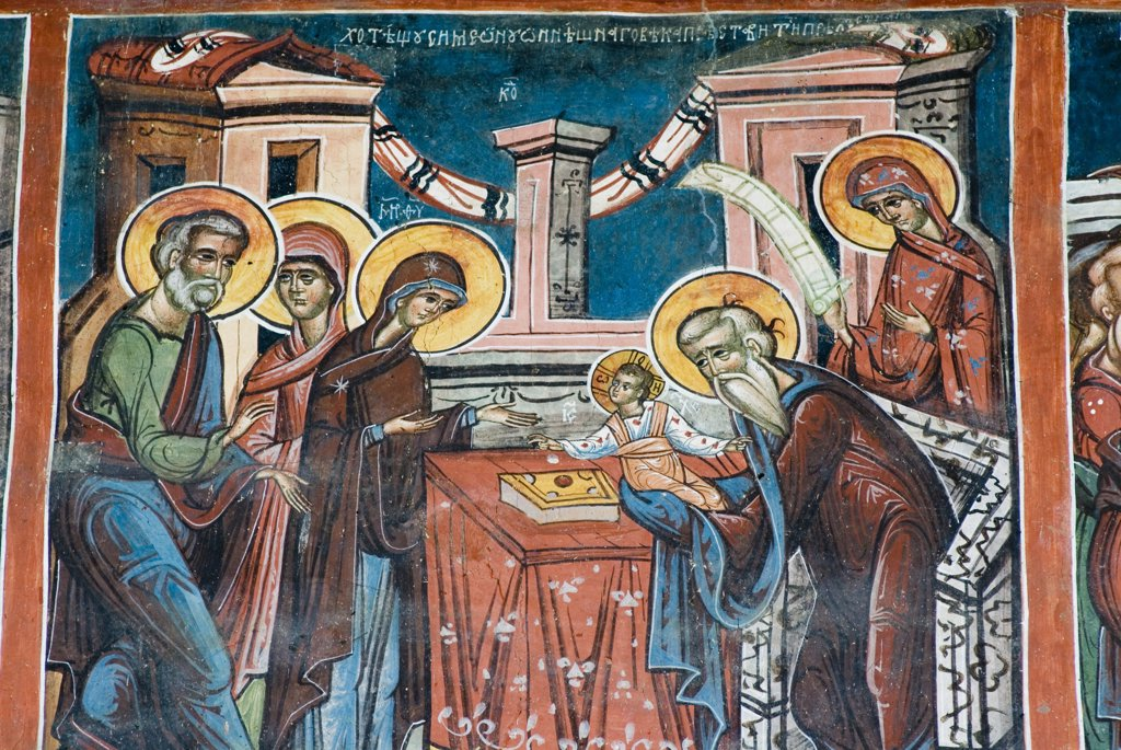 Stock Photo: 1606-163749 External fresco 16th, Church, Monastery, Moldovita, Moldavia, Roumania