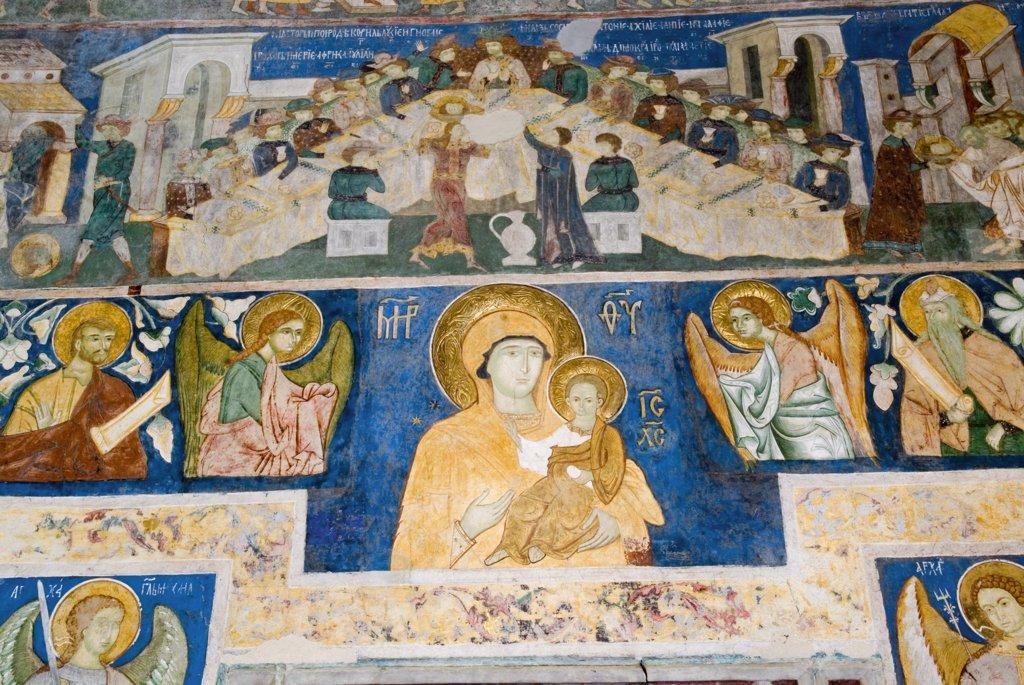 Stock Photo: 1606-163811 Fresco 16th, Church, Arbore, Bucovina, Moldavia, Roumania